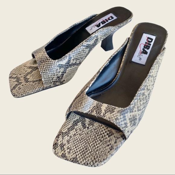 Vintage Shoes - Vintage Snakeskin Mules 👡